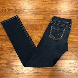 LIKE NEW BKE Stella Dark Wash Straight Jeans 28R